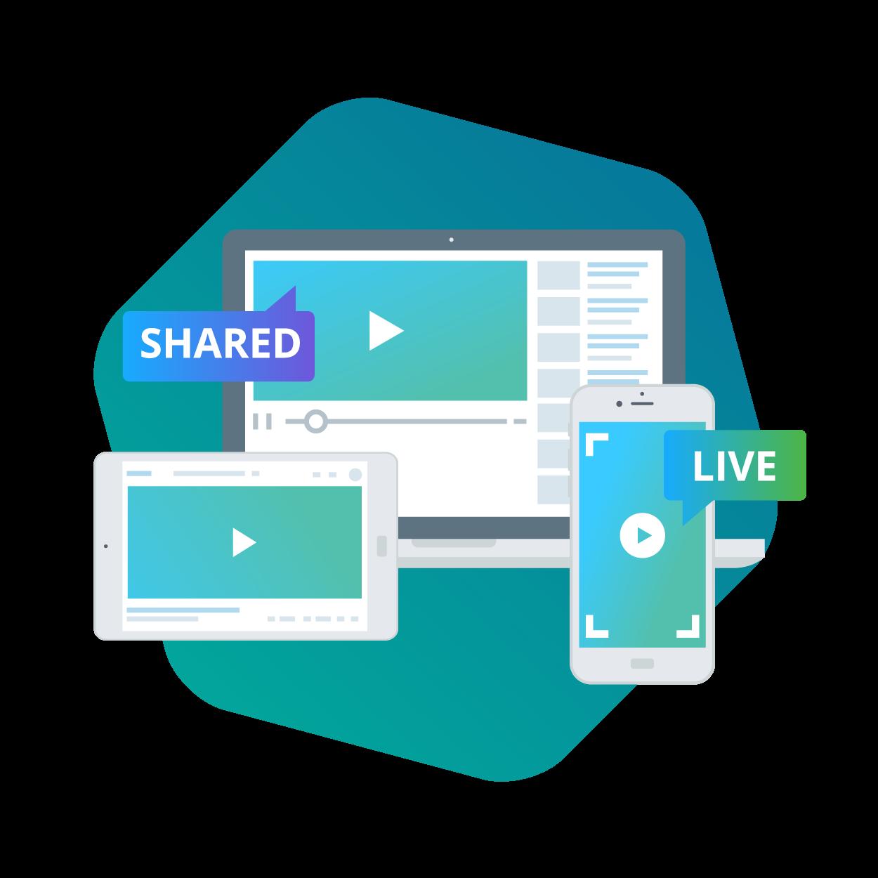 video driven websites