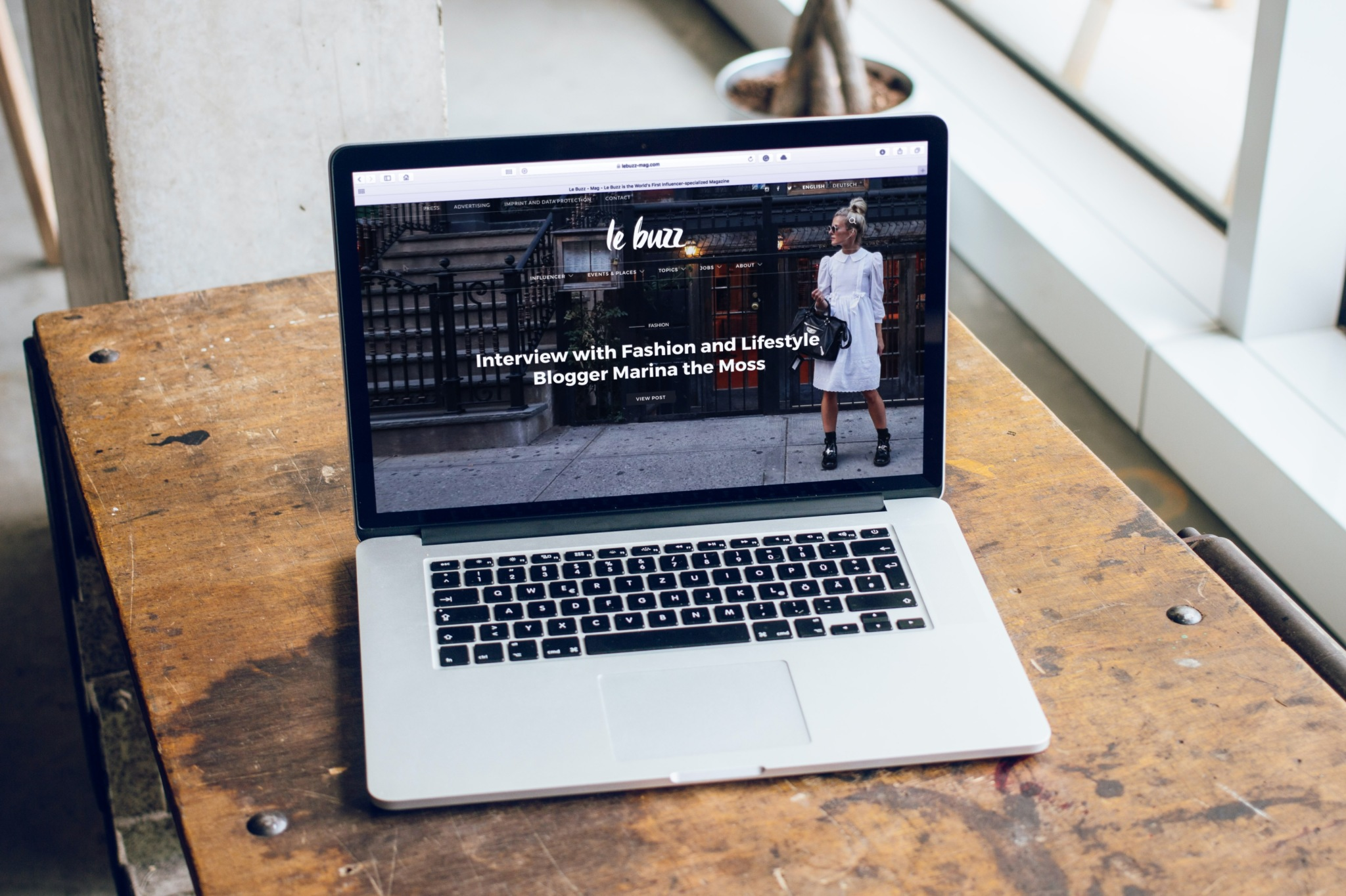 website with landing video on a computer